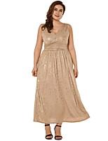 Недорогие -Жен. С летящей юбкой Платье Глубокий V-образный вырез Макси