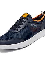 Недорогие -Муж. Комфортная обувь Сетка / Полиуретан Лето На каждый день Кеды Нескользкий Черный / Серый / Синий