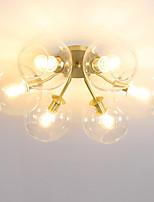 Недорогие -JLYLITE 6-Light Круглый Потолочные светильники Рассеянное освещение Электропокрытие Металл Стекло Мини 110-120Вольт / 220-240Вольт