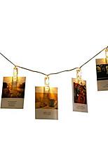 Недорогие -1 шт. 3 м 20 светодиодов фото клип держатель светодиодные струнные фонари на батарейках Рождество Новый год свадебные украшения сказочные огни