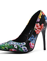 Недорогие -Жен. Синтетика Весна лето Обувь на каблуках На шпильке Заостренный носок Цвет радуги / Цвет-леопард / Для вечеринки / ужина