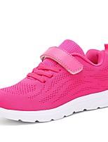 Недорогие -Девочки Обувь Трикотаж Весна Удобная обувь Спортивная обувь Беговая обувь На липучках для Черный / Серый / Розовый
