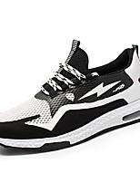 Недорогие -Муж. Комфортная обувь Свиная кожа Весна Спортивные / На каждый день Кеды Нескользкий Контрастных цветов Черный / Черно-белый / Синий