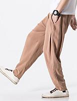 Недорогие -Муж. Гарем Сплетенные брюки Темно-синий Кофейный Серый Виды спорта Сплошной цвет Брюки Нижняя часть Спорт в свободное время Бег Фитнес Большие размеры Спортивная одежда Легкость Быстровысыхающий