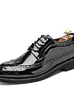 Недорогие -Муж. Официальная обувь Искусственная кожа Весна Классика / Английский Туфли на шнуровке Дышащий Золотой / Черный / Серебряный / Свадьба / Для вечеринки / ужина