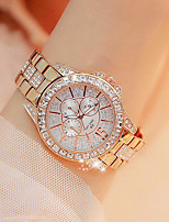 Недорогие -Жен. Наручные часы Японский Кварцевый Серебристый металл / Золотистый / Розовое золото Новый дизайн Повседневные часы Имитация Алмазный Аналоговый На каждый день Мода -  / Два года / Два года