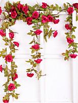 Недорогие -Искусственные Цветы 1 Филиал С креплением на стену Свадьба европейский Розы Цветы на стену