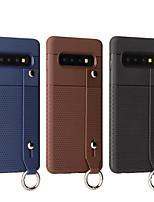 Недорогие -Кейс для Назначение SSamsung Galaxy Galaxy S10 / Galaxy S10 Plus Рельефный Кейс на заднюю панель Однотонный Мягкий ТПУ для S9 / S9 Plus / Galaxy S10