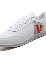 Недорогие -Муж. Комфортная обувь Полиуретан Весна Кеды Контрастных цветов Красный / Черно-белый / Wit En Groen