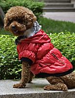 Недорогие -Собаки Плащи Одежда для собак Однотонный Красный Зеленый Черный Терилен Костюм Назначение Корги Гончая Бульдог Осень Зима Женский На каждый день Наколенники