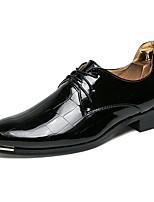 Недорогие -Муж. Официальная обувь Полиуретан Весна Деловые / Английский Туфли на шнуровке Водостойкий Черный / Красный / Синий / Свадьба / Для вечеринки / ужина