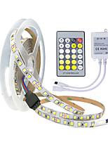Недорогие -ZDM® 5 метров Гибкие светодиодные ленты / Наборы ламп 600 светодиоды 2835 SMD 1 пульт дистанционного управления 24Keys Двойной цвет источника света Можно резать / Новый дизайн / Компонуемый 12 V 1