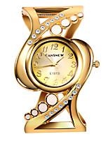 Недорогие -Жен. Нарядные часы Часы-браслет Кварцевый Нержавеющая сталь Серебристый металл / Золотистый Повседневные часы Мрамор Аналоговый Кольцеобразный Цветной - Синий Розовый Золотистый / Один год