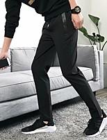 Недорогие -Муж. Кулиска Брюки для бега Черный Виды спорта Сплошной цвет Хлопок Нижняя часть Тренировка в тренажерном зале Большие размеры Спортивная одежда Легкость Быстровысыхающий Слабоэластичная Тонкие / Луч