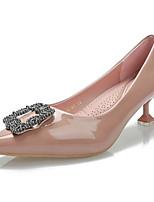 Недорогие -Жен. Лакированная кожа Весна Обувь на каблуках На конусовидном каблуке Черный / Розовый
