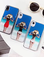 Недорогие -Кейс для Назначение Apple iPhone XS Max / iPhone 6 Сияние и блеск Кейс на заднюю панель Соблазнительная девушка Мягкий Силикон для iPhone XS / iPhone XR / iPhone XS Max
