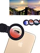 Недорогие -Объектив для мобильного телефона Объектив с фильтром стекло / Пластиковые & Металл / Алюминиевый сплав 1X 4 mm 3 m 180 ° Творчество / Новый дизайн / Cool