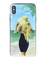Недорогие -Кейс для Назначение Apple iPhone XR / iPhone XS Max Защита от удара / Движущаяся жидкость / Ультратонкий Кейс на заднюю панель Соблазнительная девушка Мягкий ТПУ для iPhone XS / iPhone XR / iPhone XS