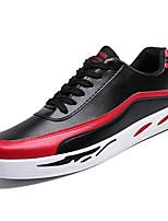 Недорогие -Муж. Комфортная обувь Полиуретан Весна Кеды Контрастных цветов Белый / Черный / Красный