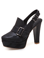 Недорогие -Жен. Микроволокно Весна лето Обувь на каблуках На толстом каблуке Круглый носок Коричневый / Светло-серый / Хаки / Для вечеринки / ужина