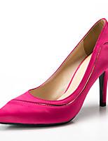 Недорогие -Жен. Сатин Весна & осень Классика / Милая Обувь на каблуках На шпильке Заостренный носок Пурпурный / Красный / Тёмно-синий