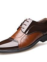 Недорогие -Муж. Официальная обувь Полиуретан Весна Деловые / Классика Туфли на шнуровке Дышащий Черный / Коричневый / Свадьба