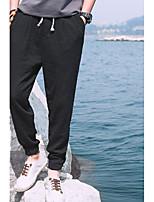 Недорогие -Муж. Гарем Сплетенные брюки Серый Небесно-синий + белый Темно-синий Виды спорта Сплошной цвет Брюки Нижняя часть Спорт в свободное время Бег Фитнес Большие размеры Спортивная одежда / Слабоэластичная