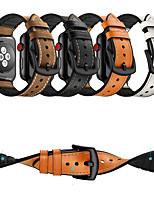 Недорогие -Ремешок для часов для Apple Watch Series 4/3/2/1 Apple Классическая застежка силиконовый / Натуральная кожа Повязка на запястье