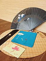 Недорогие -Взрослые Муж. Жен. азиатский кисточка В китайском стиле Косплэй Kостюмы Назначение Для вечеринок На каждый день Подарок Ткань Демин Бамбук Складной ручной вентилятор