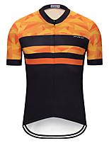 Недорогие -TELEYI Муж. С короткими рукавами Велокофты - Черный / оранжевый Велоспорт Джерси Верхняя часть Быстровысыхающий Виды спорта Терилен Горные велосипеды Шоссейные велосипеды Одежда / Слабоэластичная