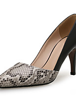 Недорогие -Жен. Искусственная кожа Весна & осень Деловые Обувь на каблуках На шпильке Заостренный носок Черный / Контрастных цветов