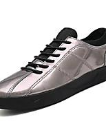 Недорогие -Муж. Комфортная обувь Полиуретан Весна На каждый день Кеды Нескользкий Черный / Серебряный
