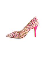 Недорогие -Жен. Синтетика Весна Обувь на каблуках На шпильке Бежевый / Розовый