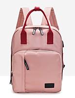 Недорогие -Жен. Мешки Нейлон / Оксфорд рюкзак Молнии Сплошной цвет Розовый / Темно-синий / Небесно-голубой