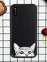 Недорогие -Кейс для Назначение Apple iPhone XR / iPhone XS Max С узором Кейс на заднюю панель Кот Мягкий ТПУ для iPhone XS / iPhone XR / iPhone XS Max
