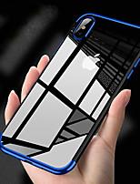 Недорогие -Кейс для Назначение Apple iPhone XS Max / iPhone 6 Покрытие Кейс на заднюю панель Однотонный Мягкий ТПУ для iPhone XS / iPhone XR / iPhone XS Max