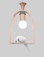 Недорогие -Оригинальные Подвесные лампы Рассеянное освещение Окрашенные отделки Металл Дерево / бамбук Новый дизайн 110-120Вольт / 220-240Вольт Теплый белый