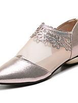 Недорогие -Жен. Полиуретан Весна На каждый день Обувь на каблуках На низком каблуке Заостренный носок Золотой / Черный