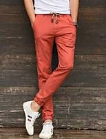 Недорогие -Муж. Кулиска Брюки-штаны Темно-синий Зеленый Со стразами Виды спорта Сплошной цвет Брюки Нижняя часть Тренировка в тренажерном зале Большие размеры Спортивная одежда Легкость Быстровысыхающий