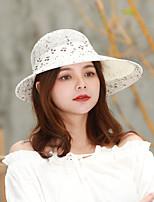 Недорогие -Жен. Активный / Классический / Симпатичные Стиль Шляпа от солнца Однотонный