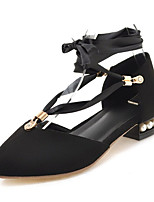 Недорогие -Жен. Синтетика Весна лето Обувь на каблуках На толстом каблуке Заостренный носок Черный / Желтый / Светло-лиловый / Для вечеринки / ужина