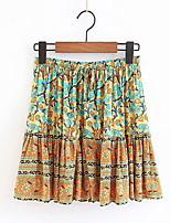 Недорогие -женская юбка выше колена - геометрическая