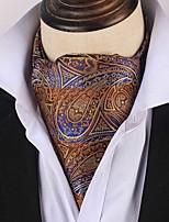 Недорогие -Муж. Для вечеринки / Для офиса / Защита от ветра Платок / аскотский галстук С принтом / В клетку / Жаккард