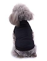 Недорогие -Собаки Жилет Одежда для собак Однотонный Белый Красный Черный Терилен Костюм Назначение Корги Гончая Бульдог Весна Лето Женский Мужской На каждый день Простой стиль