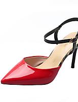 Недорогие -Жен. Полиуретан Весна Минимализм Обувь на каблуках На шпильке Заостренный носок Красный / Зеленый / Хаки / Контрастных цветов