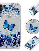 Недорогие -Кейс для Назначение Apple iPhone XR / iPhone XS Max Защита от удара / Прозрачный / С узором Кейс на заднюю панель Бабочка Мягкий ТПУ для iPhone XS / iPhone XR / iPhone XS Max