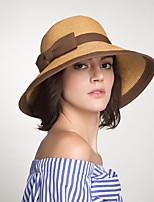 Недорогие -Жен. Для вечеринки Соломенная шляпа Контрастных цветов