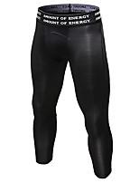 Недорогие -Муж. Брюки-штаны Сжимающие штаны Лосины для бега Черный Темно-серый Синий Виды спорта Градиент цвета Брюки Компрессионная одежда Велоспорт Колготки Фитнес Тренировка в тренажерном зале Разрабатывать