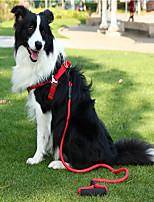 Недорогие -Собаки Ремни Поводки Компактность Жилет Контрастных цветов Нейлон Лиловый Красный Синий