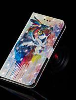 Недорогие -Кейс для Назначение SSamsung Galaxy Galaxy S10 Plus / Galaxy S10 E Кошелек / Бумажник для карт / со стендом Чехол Сова Твердый Кожа PU для S9 / S9 Plus / S8 Plus